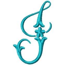 Elegant Monogram J embroidery design