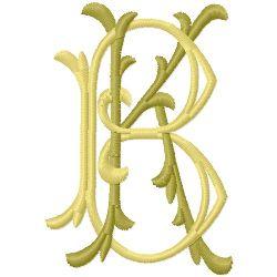 K B Monogram embroidery design