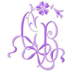 C B Monogram embroidery design