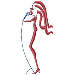 Singer & Microphone embroidery design
