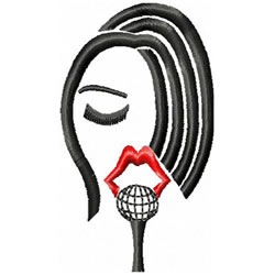 Singers Head 2 embroidery design