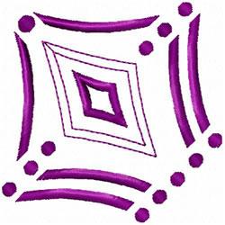 Diamond & Dots embroidery design
