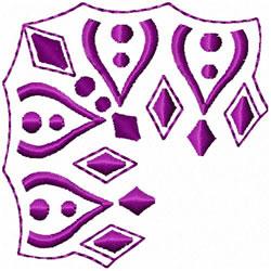 Diamond & Dots Corner embroidery design