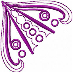Swirls & Spirals Corner embroidery design