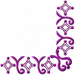 Diamond & Spiral Corner embroidery design