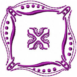 Dot & Swirls Decoration embroidery design
