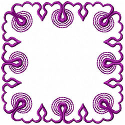 Circles & Swirls Frame embroidery design