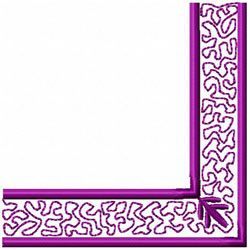 Swirly Frame Corner embroidery design