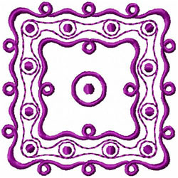 Dots & Swirls Design embroidery design