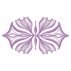 Art Nouveau FLower embroidery design