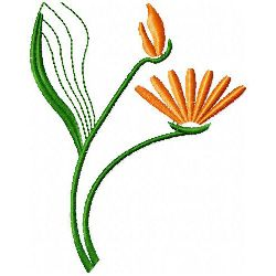 Flower Bud & Flower embroidery design