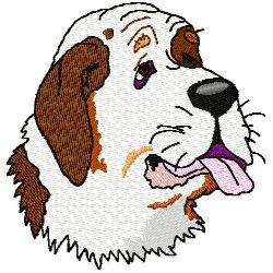 St. Bernard Dog embroidery design