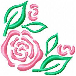 Rose 6 embroidery design