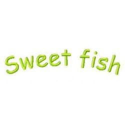 Sweet Fish embroidery design