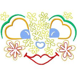 Valentines Face embroidery design