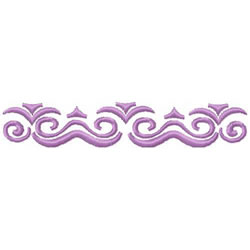 Scrollwork Border embroidery design
