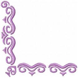 Scrollwork Corner 2 embroidery design