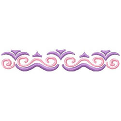 2 Color Scrollwork Border 1 embroidery design