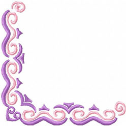 2 Color Scrollwork Corner 1 embroidery design