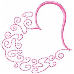 Half Heart embroidery design
