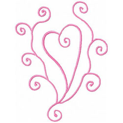 Scrollwork Heart embroidery design