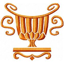 Loving Cup embroidery design