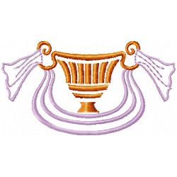 Loving Cup & Scarf embroidery design
