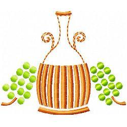 Italian Wine Bottle embroidery design