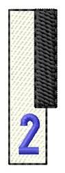 Piano Key 2 embroidery design