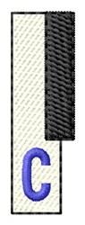 Piano Key C embroidery design