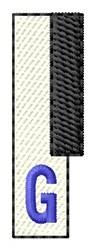Piano Key G embroidery design