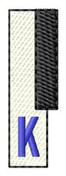 Piano Key K embroidery design