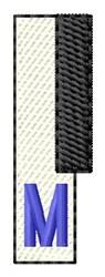 Piano Key M embroidery design
