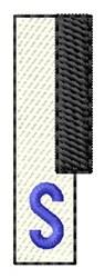 Piano Key S embroidery design