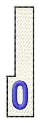 White Piano Key 0 embroidery design