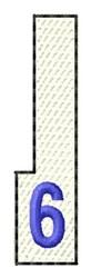 White Piano Key 6 embroidery design