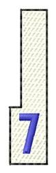 White Piano Key 7 embroidery design