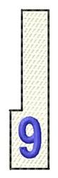 White Piano Key 9 embroidery design