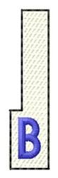White Piano Key B embroidery design