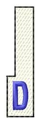 White Piano Key D embroidery design