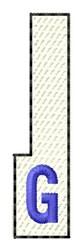White Piano Key G embroidery design