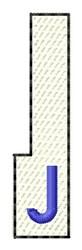 White Piano Key J embroidery design