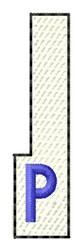 White Piano Key P embroidery design