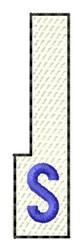White Piano Key S embroidery design