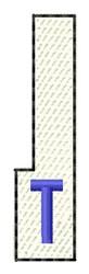 White Piano Key T embroidery design