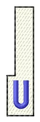 White Piano Key U embroidery design