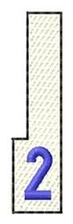 White Piano Key 2 embroidery design