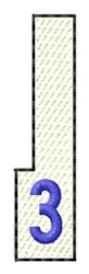 White Piano Key 3 embroidery design