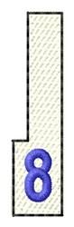 White Piano Key 8 embroidery design