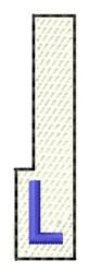 White Piano Key L embroidery design